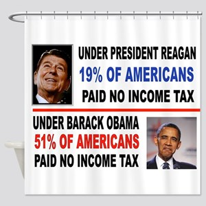 INCOME TAX Shower Curtain