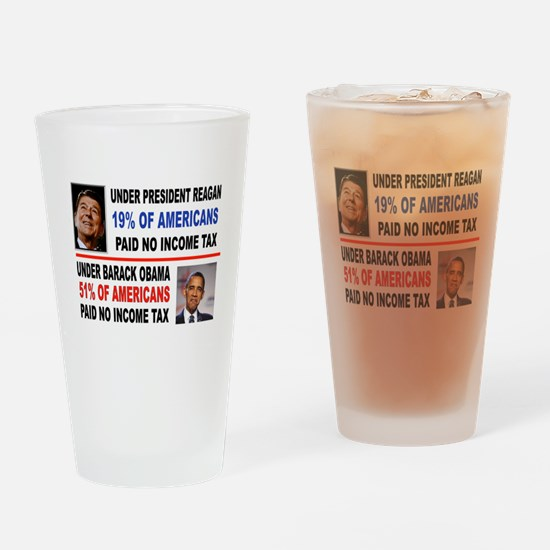 INCOME TAX Drinking Glass
