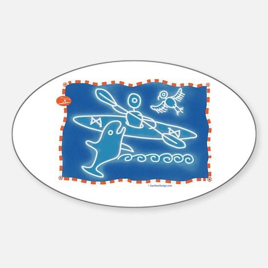 Cute Petroglyph Sticker (Oval)