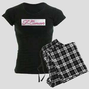 F-Cancer Women's Dark Pajamas