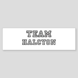 Team Halcyon Bumper Sticker