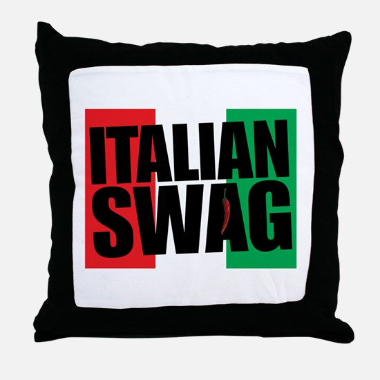 Italian Swag Throw Pillow