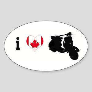 iheartvespa.com Canada Oval Sticker
