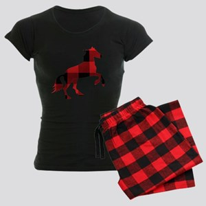 Matching Horse Women's Dark Pajamas