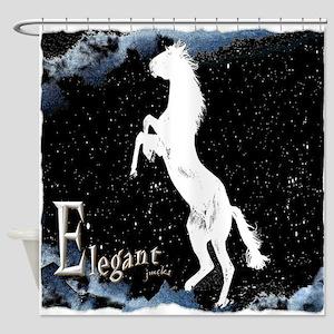 Elegant horse Shower Curtain