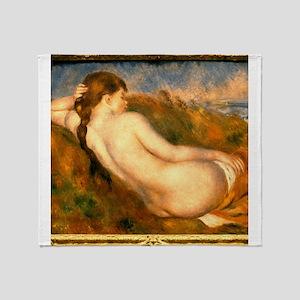 Monet Reclining Nude Throw Blanket