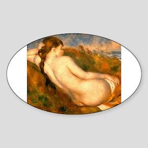 Monet Reclining Nude Sticker (Oval)