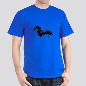 Mini Dachshund at Attention Dark T-Shirt