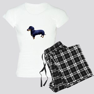 Mini Dachshund at Attention Women's Light Pajamas
