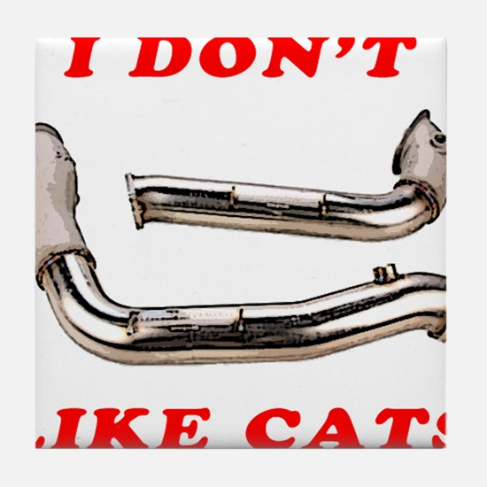 I Don't Like Cats (Racing) Tile Coaster