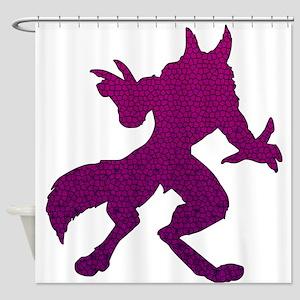 Purple Werewolf Mosaic Shower Curtain
