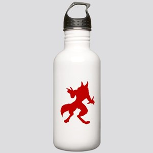 Red Werewolf Silhouette Stainless Water Bottle 1.0