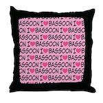 I Love Bassoon Throw Pillow