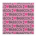 I Love Bassoon Tile Coaster