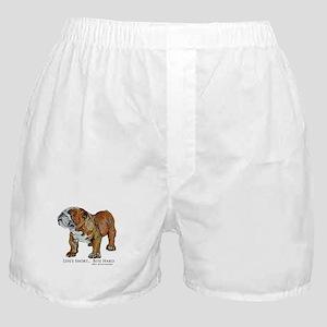 Bulldogs Life Motto Boxer Shorts