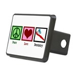 Peace Love Dentistry Rectangular Hitch Cover