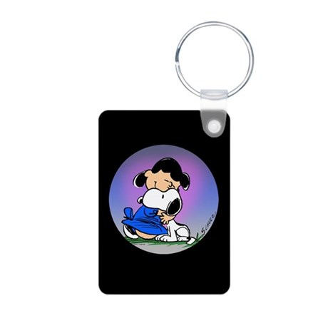 Puppy Love Aluminum Photo Keychain