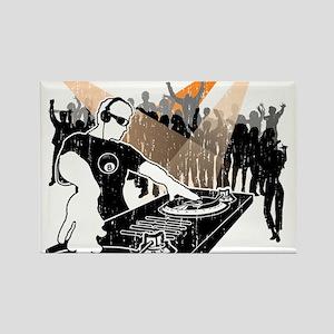 DJ 8-Ball Rectangle Magnet