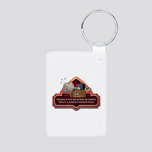 A Heavy Burden Aluminum Photo Keychain