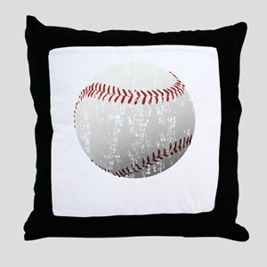 Baseball Distressed Throw Pillow