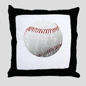 Baseball Distressed Throw Pillow