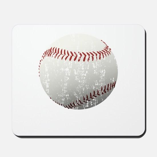 Baseball Distressed Mousepad