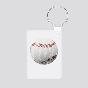 Baseball Distressed Aluminum Photo Keychain
