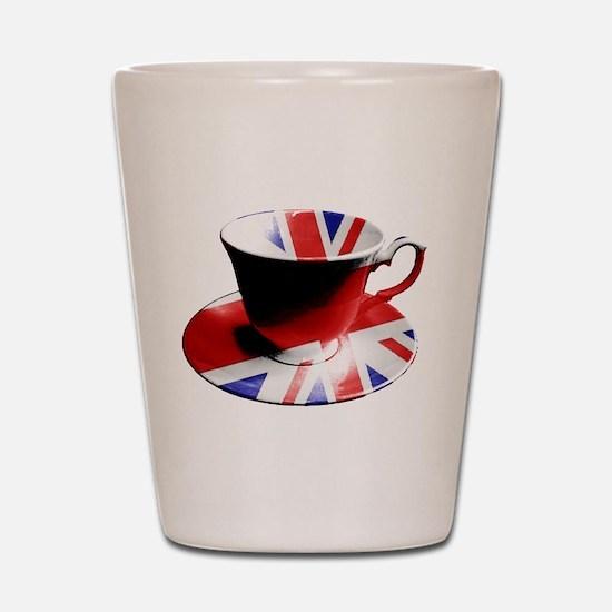 Union Jack Cup of Tea Shot Glass