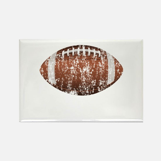 Football Distressed Rectangle Magnet
