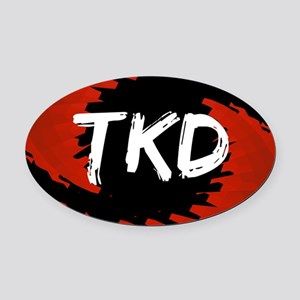TKD Hurricane Oval Car Magnet