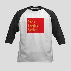 Native Spanglish Speaker Kids Baseball Jersey