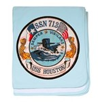 USS HOUSTON baby blanket