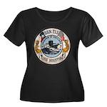 USS HOUS Women's Plus Size Scoop Neck Dark T-Shirt