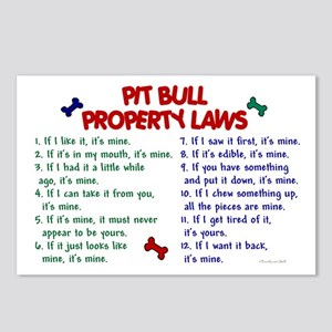Pit Bull Property Laws Postcards (Package of 8)