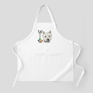 Westie Dog and Paw Print Design Apron