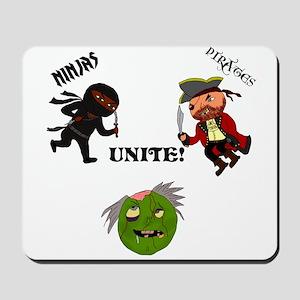 Ninjas and Pirates Unite! Mousepad