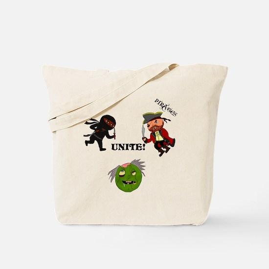Ninjas and Pirates Unite! Tote Bag