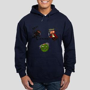 Ninjas and Pirates Unite! Hoodie (dark)