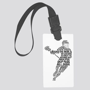 Lacrosse Terminology Large Luggage Tag