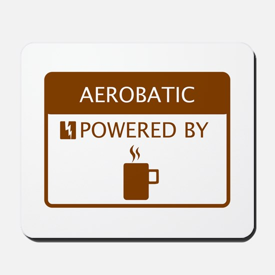 Aerobatic Powered by Coffee Mousepad