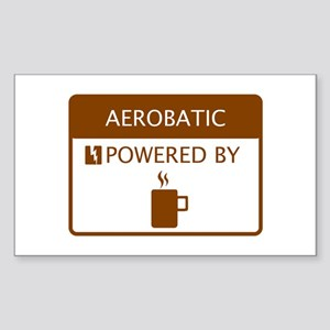 Aerobatic Powered by Coffee Sticker (Rectangle)