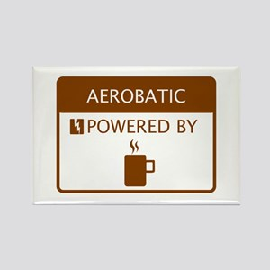 Aerobatic Powered by Coffee Rectangle Magnet