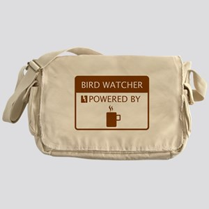 Bird Watcher Powered by Coffee Messenger Bag