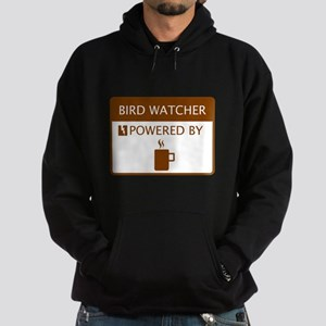 Bird Watcher Powered by Coffee Hoodie (dark)