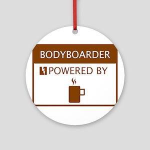 Bodyboarder Powered by Coffee Ornament (Round)