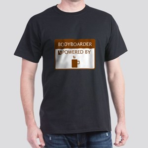Bodyboarder Powered by Coffee Dark T-Shirt