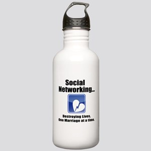 Social Networking Stainless Water Bottle 1.0L