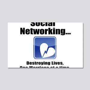 Social Networking 20x12 Wall Decal