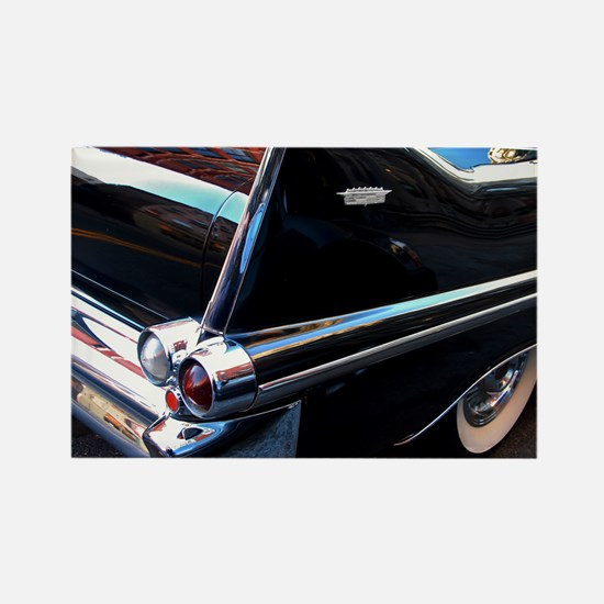 Classic Cars: 1950's Black Caddy Rectangle Magnet