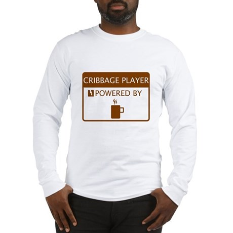 Cribbage Player Powered by Coffee Long Sleeve T-Sh